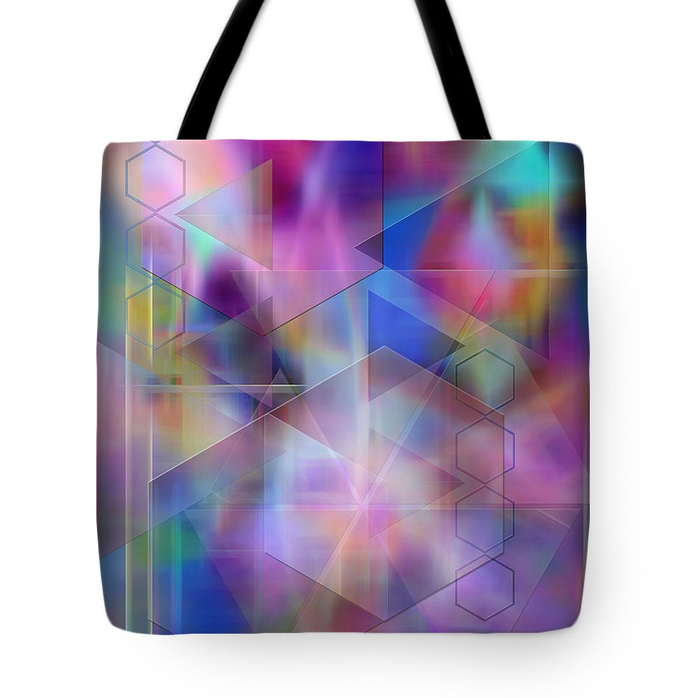 Usonian Dreams Tote Bag featuring the digital art Usonian Dreams by John Beck