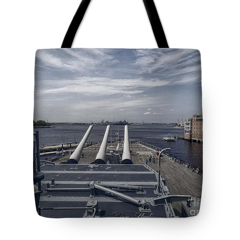 Tote Bag featuring the photograph Uss #64 Wisconsin by Melissa Messick