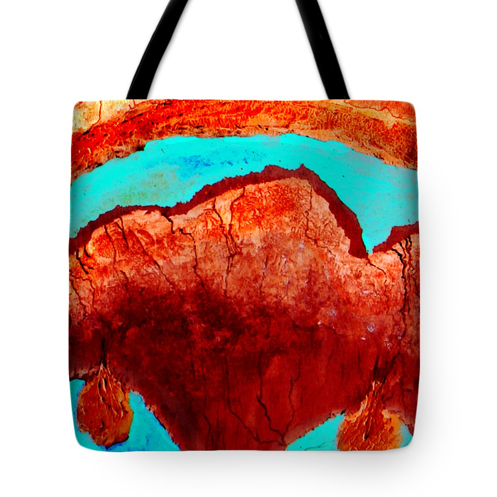 Color Tote Bag featuring the painting Uterus by Veronica Jackson