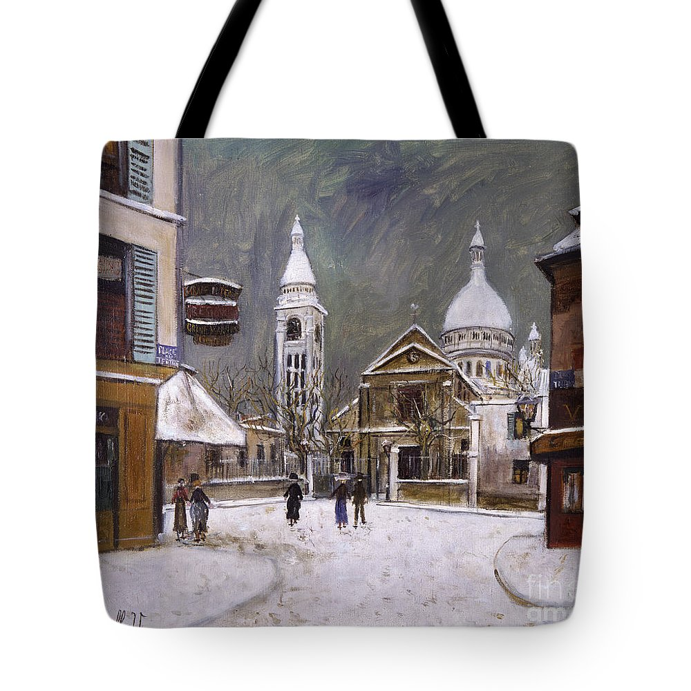 1931 Tote Bag featuring the photograph Utrillo: Montmartre, 1931 by Granger