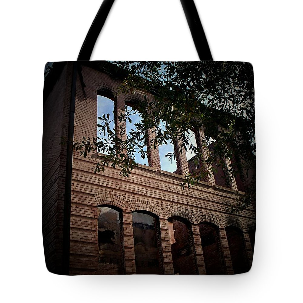 School Tote Bag featuring the photograph Vacancy by Betty Northcutt