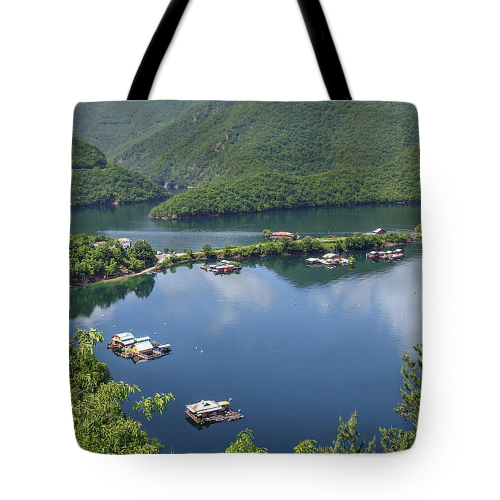 пейзаж Tote Bag featuring the photograph Vacha Dam by Tihomir Dimitrov