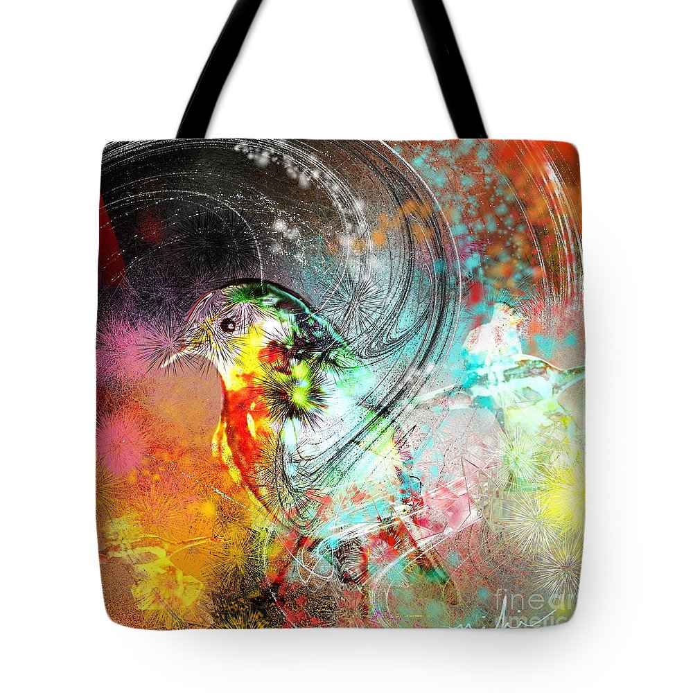 Bird Tote Bag featuring the painting Vagabond by Miki De Goodaboom