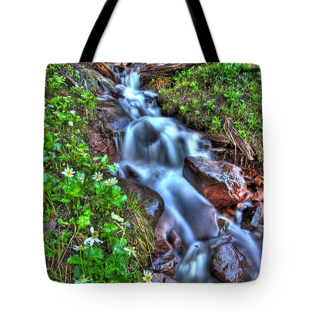 Vail Tote Bag featuring the photograph Vail Cascade by Scott Mahon