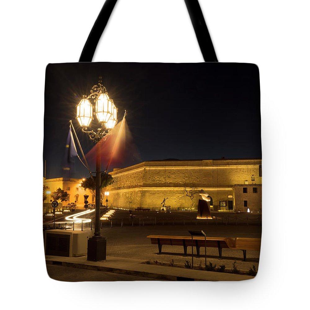 Malta; Valletta; Mediterranean Tote Bag featuring the digital art Valletta Light by Tsafreer Bernstein