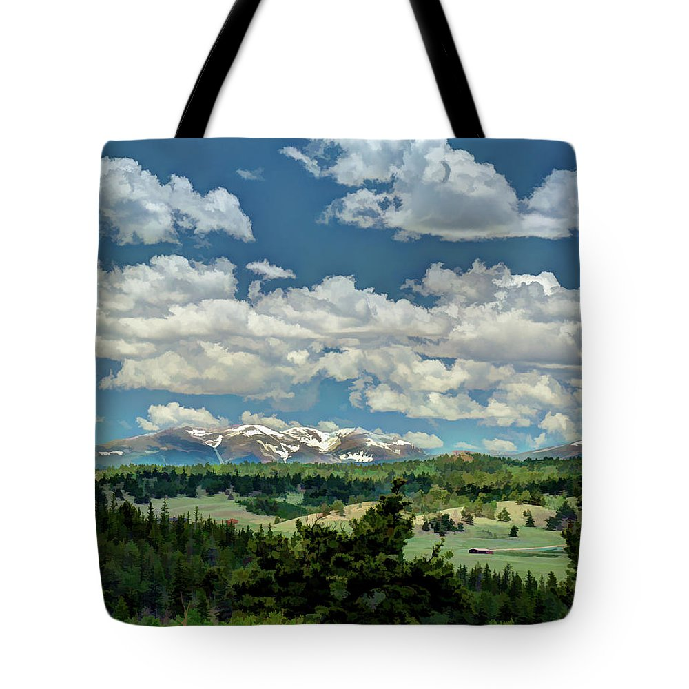 Colorado Tote Bag featuring the photograph Valley In The Rockies by Dave Thompsen