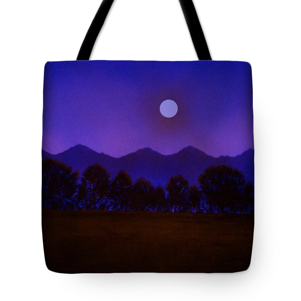 Night Tote Bag featuring the painting Valley Light by Frank Wilson
