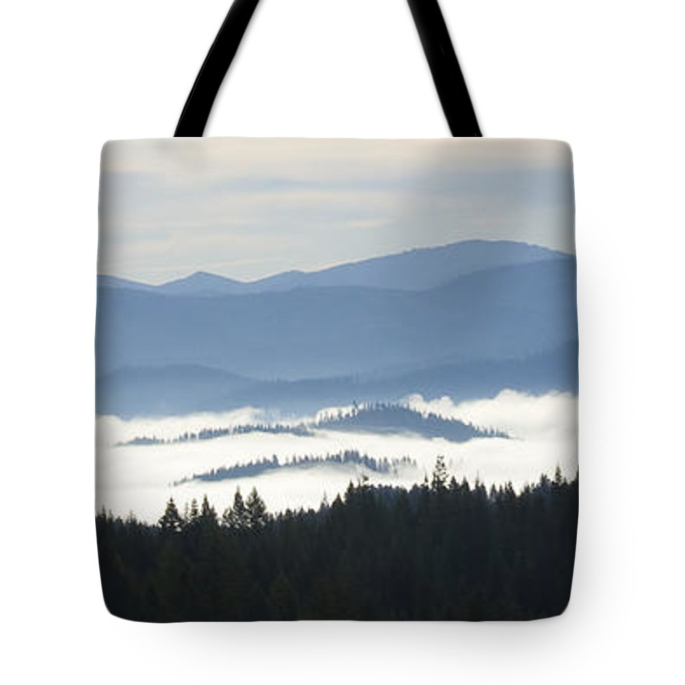 Mists Tote Bag featuring the photograph Valley Mists by Idaho Scenic Images Linda Lantzy