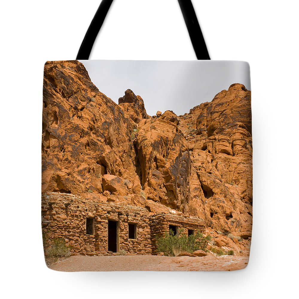 Stone Tote Bag featuring the photograph Valley Of Fire Cabins by Louise Magno