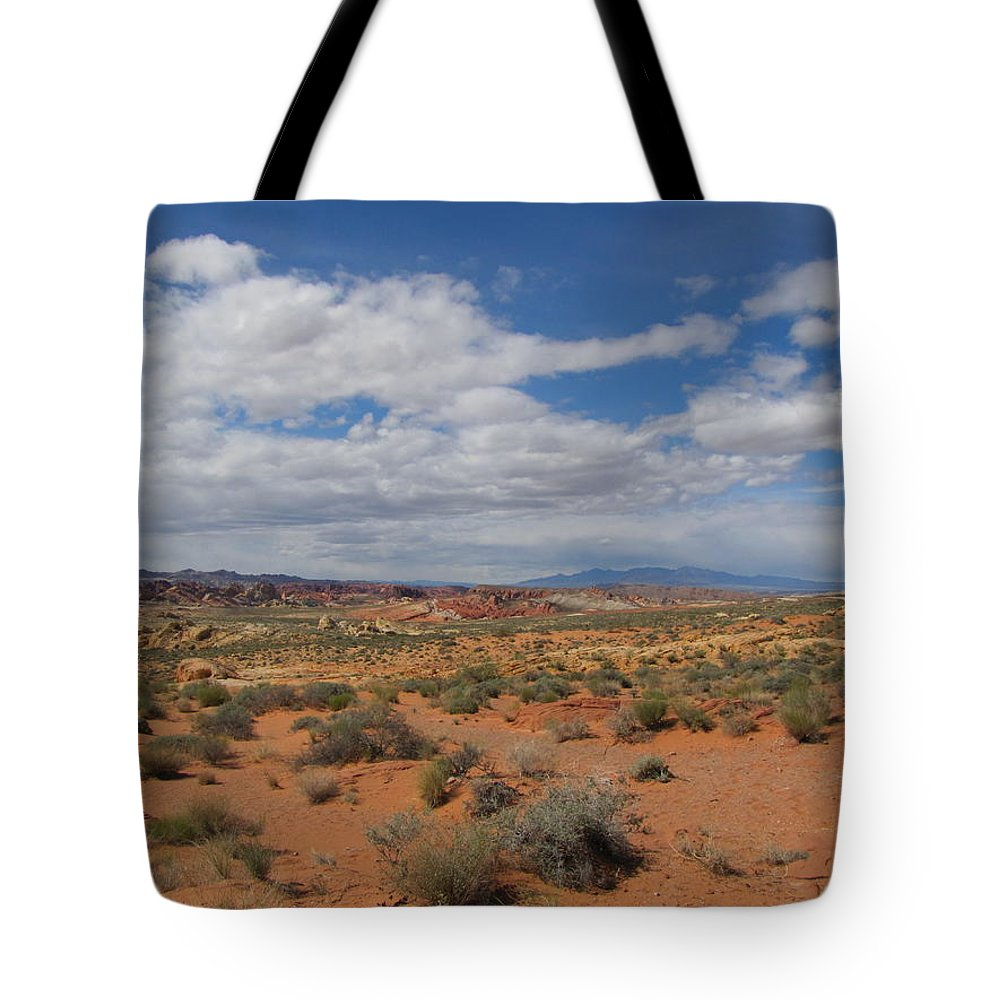 Tote Bag featuring the photograph Valley Of Fire Horizon by Kelly Mezzapelle