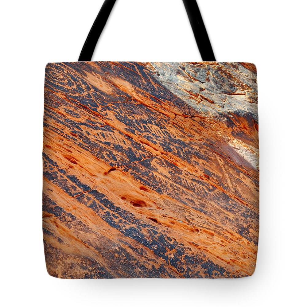 Valley Of Fire State Park Tote Bag featuring the photograph Valley Of Fire Petroglyphs by Kyle Hanson
