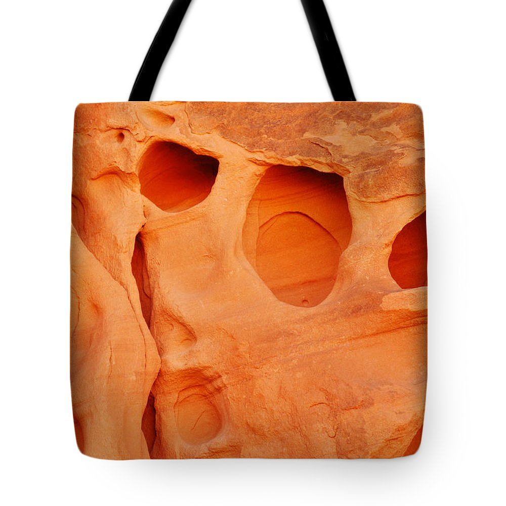 Valley Of Fire State Park Tote Bag featuring the photograph Valley Of Fire Sandstone by Kyle Hanson