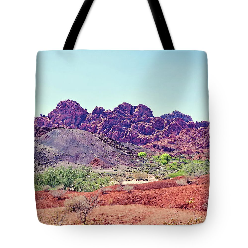 Valley Of Fire State Park Tote Bag featuring the photograph Valley Of Fire State Park, Nevada by Tatiana Travelways