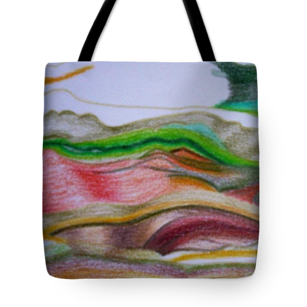 Abstract Tote Bag featuring the painting Valley Stream by Suzanne Udell Levinger