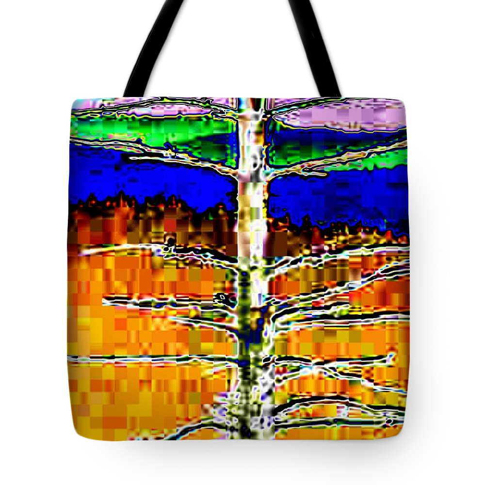 Valley Tote Bag featuring the photograph Valley View 1 by Tim Allen