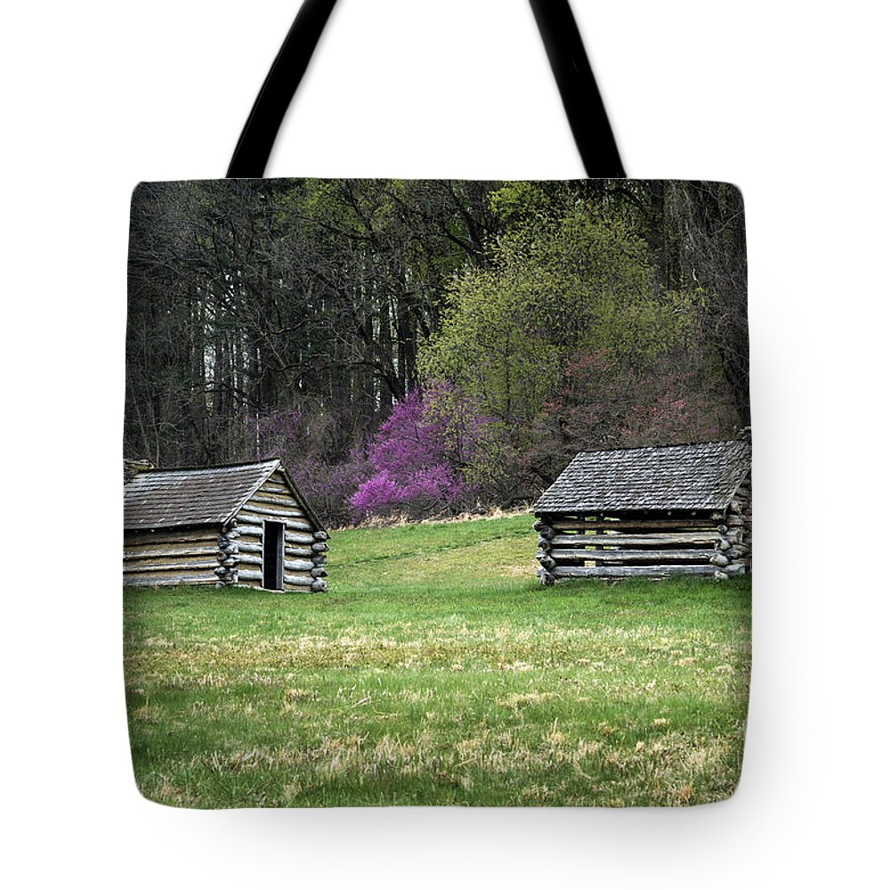 American Revolution Tote Bag featuring the photograph Vally Forge Park by John Greim