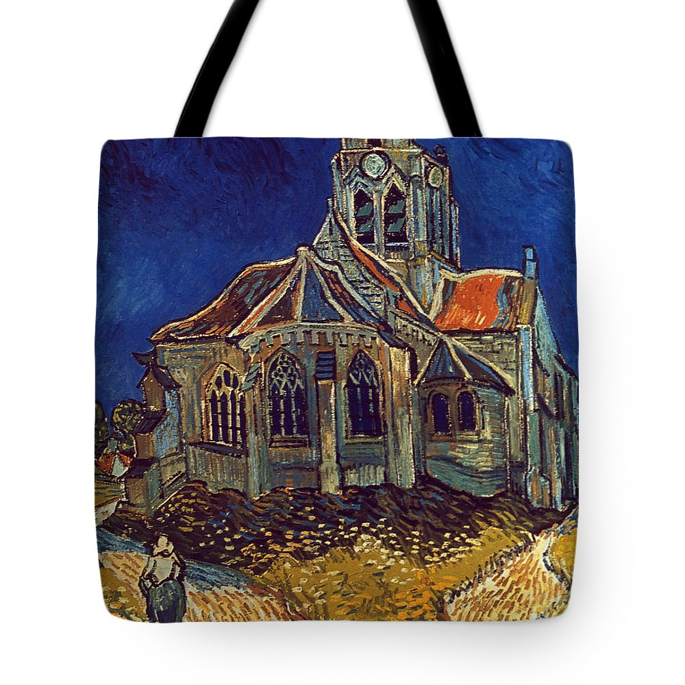 1890 Tote Bag featuring the photograph Van Gogh: Church, 1890 by Granger