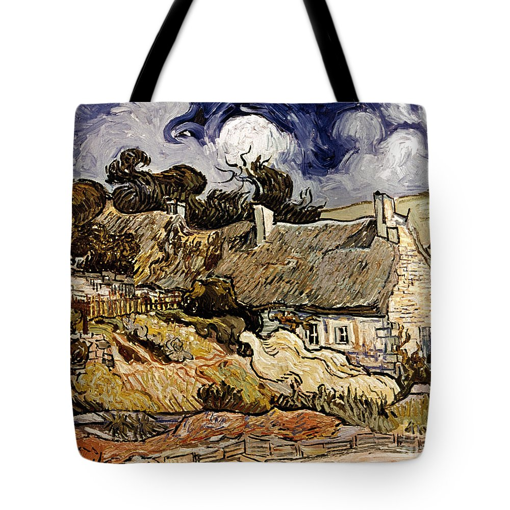 1890 Tote Bag featuring the photograph Van Gogh: Cordeville, 1890 by Granger