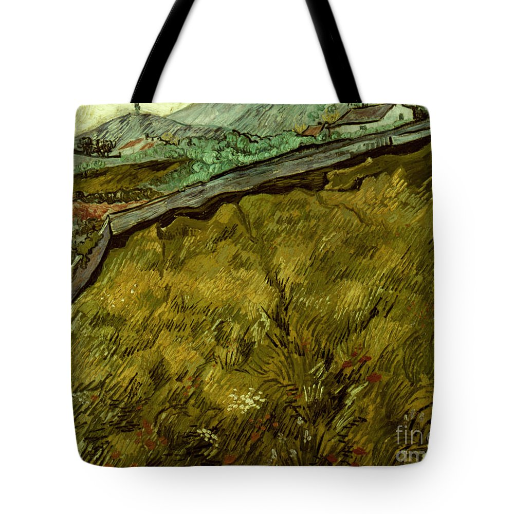 1890 Tote Bag featuring the photograph Van Gogh: Field, 1890 by Granger