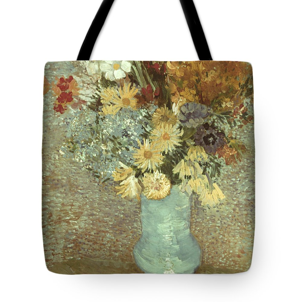 1887 Tote Bag featuring the photograph Van Gogh: Flowers, 1887 by Granger