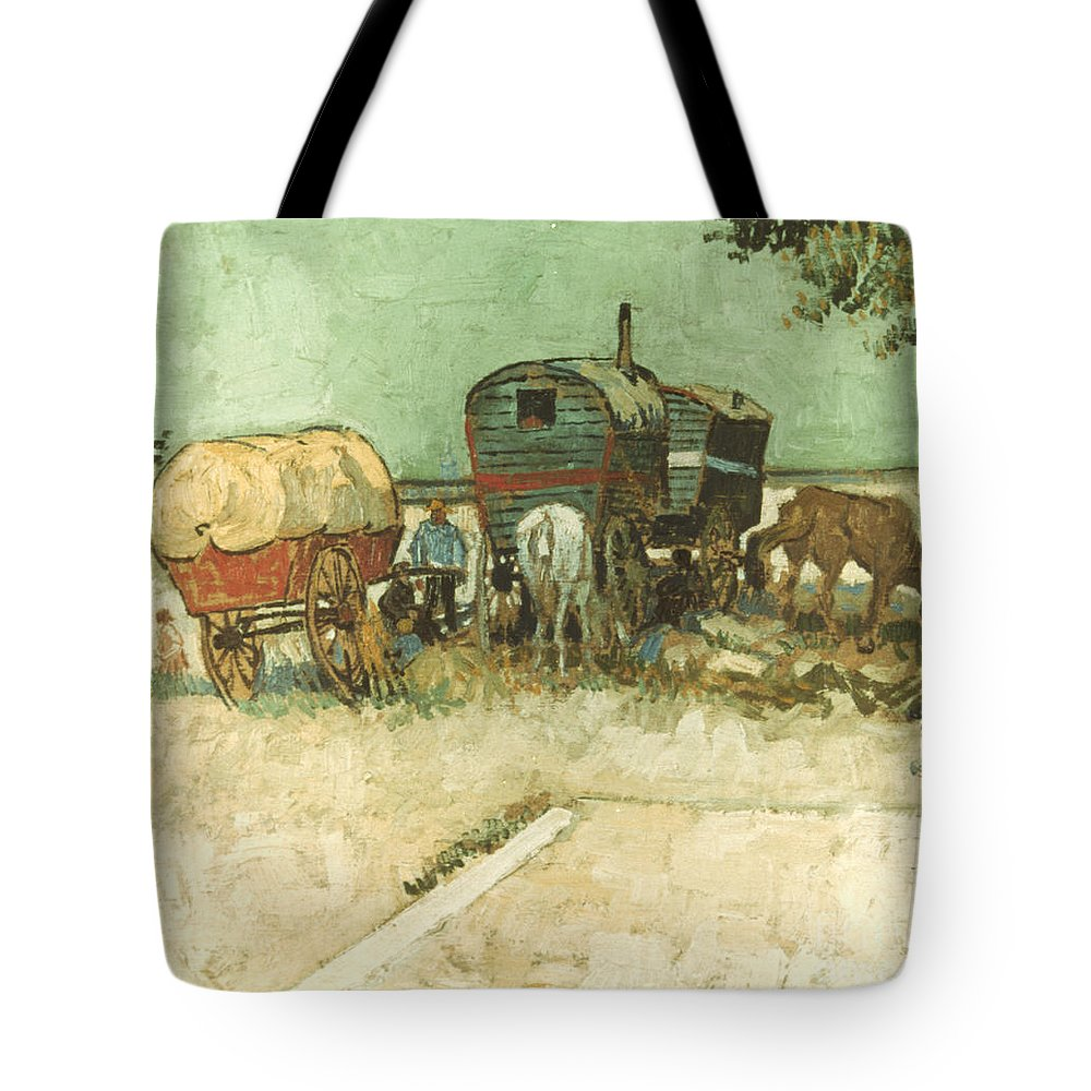 1888 Tote Bag featuring the photograph Van Gogh: Gypsies, 1888 by Granger