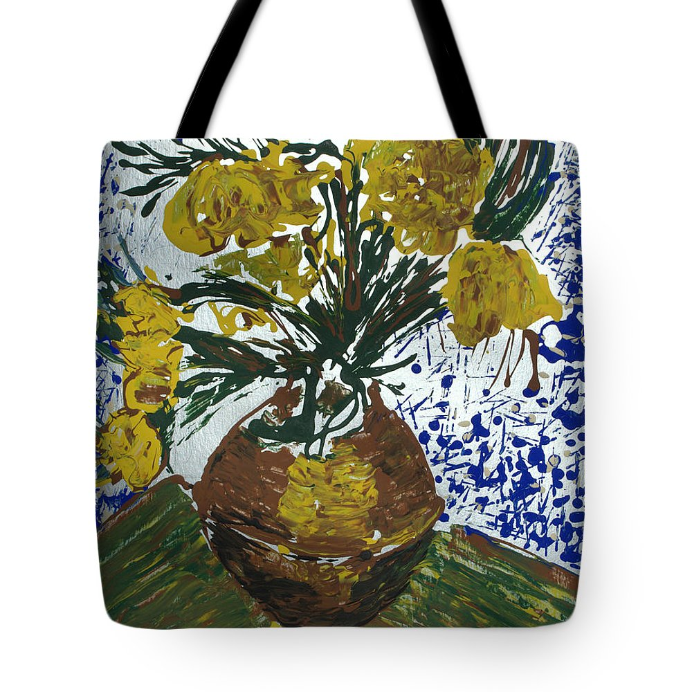 Flowers Tote Bag featuring the painting Van Gogh by J R Seymour