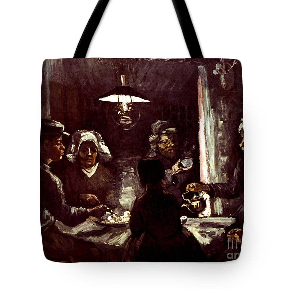 1885 Tote Bag featuring the photograph Van Gogh: Meal, 1885 by Granger