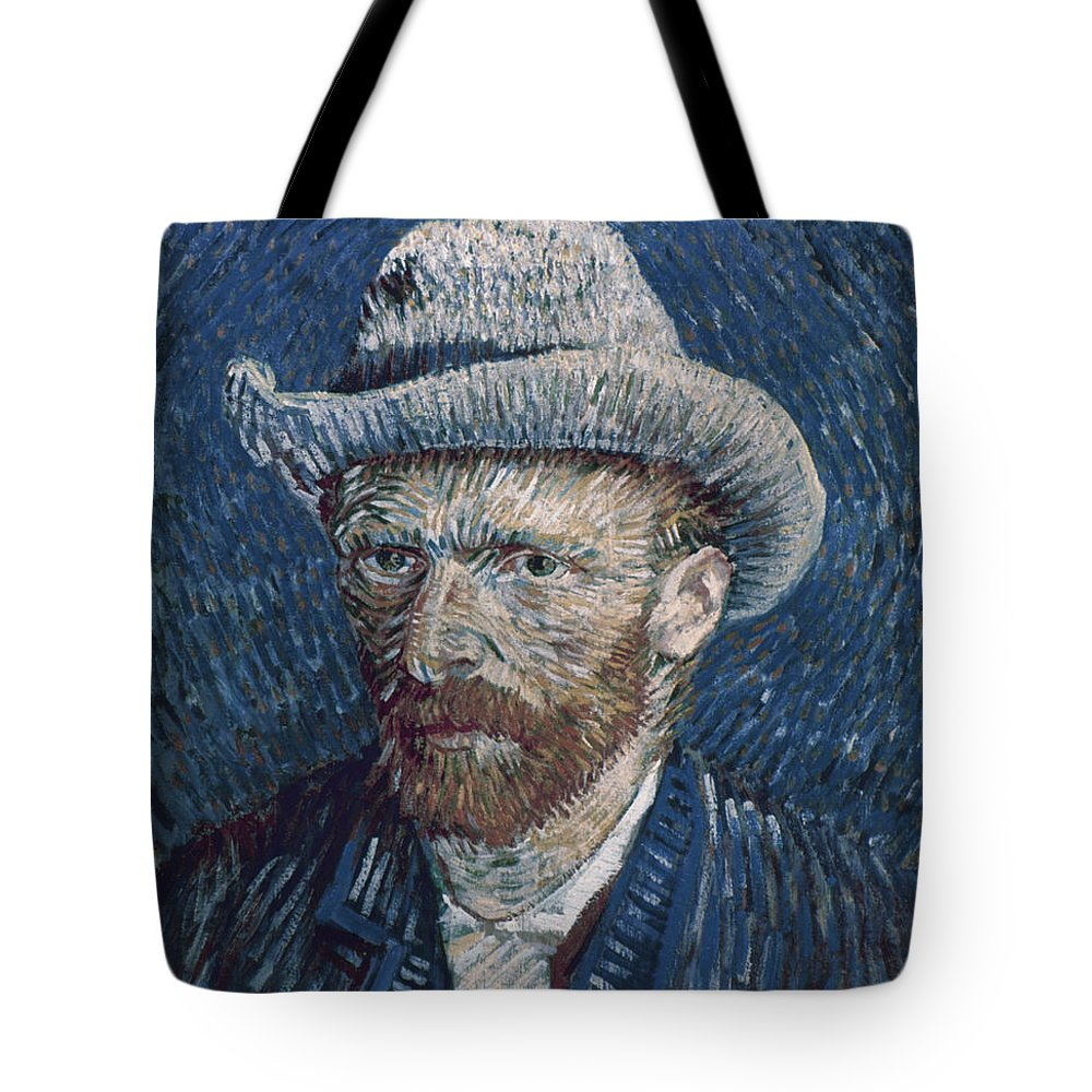 1887 Tote Bag featuring the photograph Van Gogh: Self-portrait by Granger