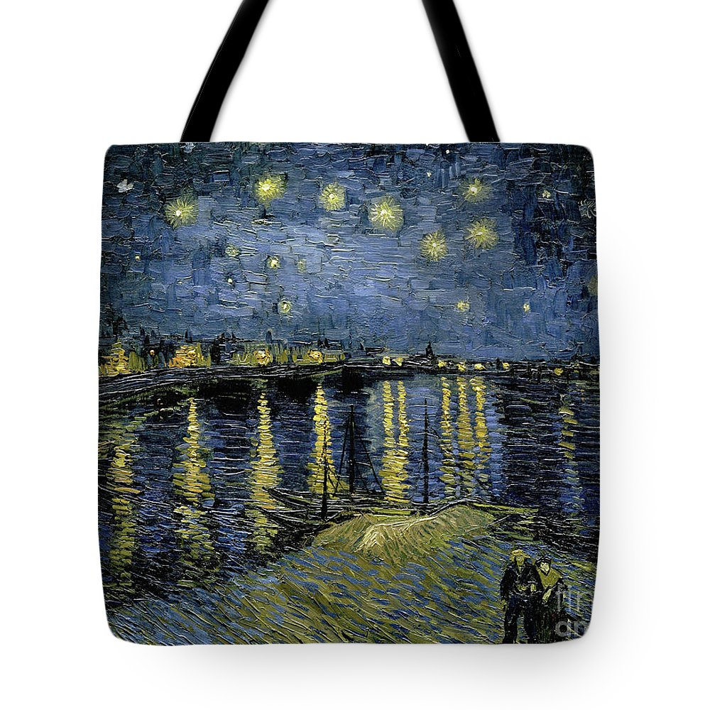 1888 Tote Bag featuring the painting Van Gogh, Starry Night by Granger