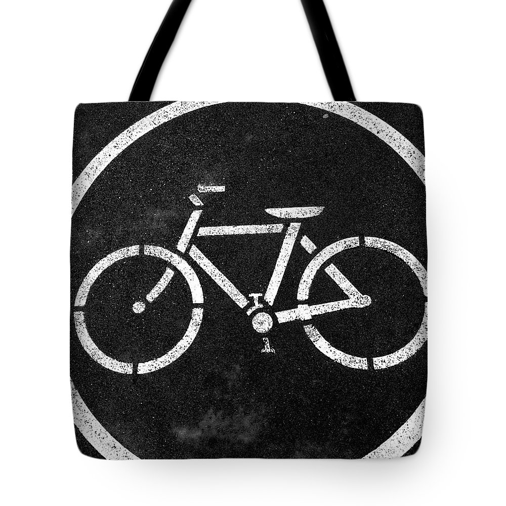 Bike Tote Bag featuring the photograph Vancouver Bike Lane- Art By Linda Woods by Linda Woods