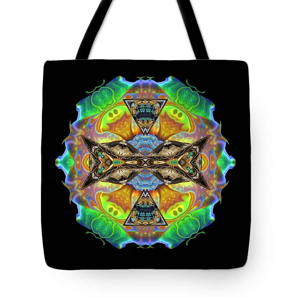 Tote Bag featuring the digital art Variations #3 by Glen Faxon