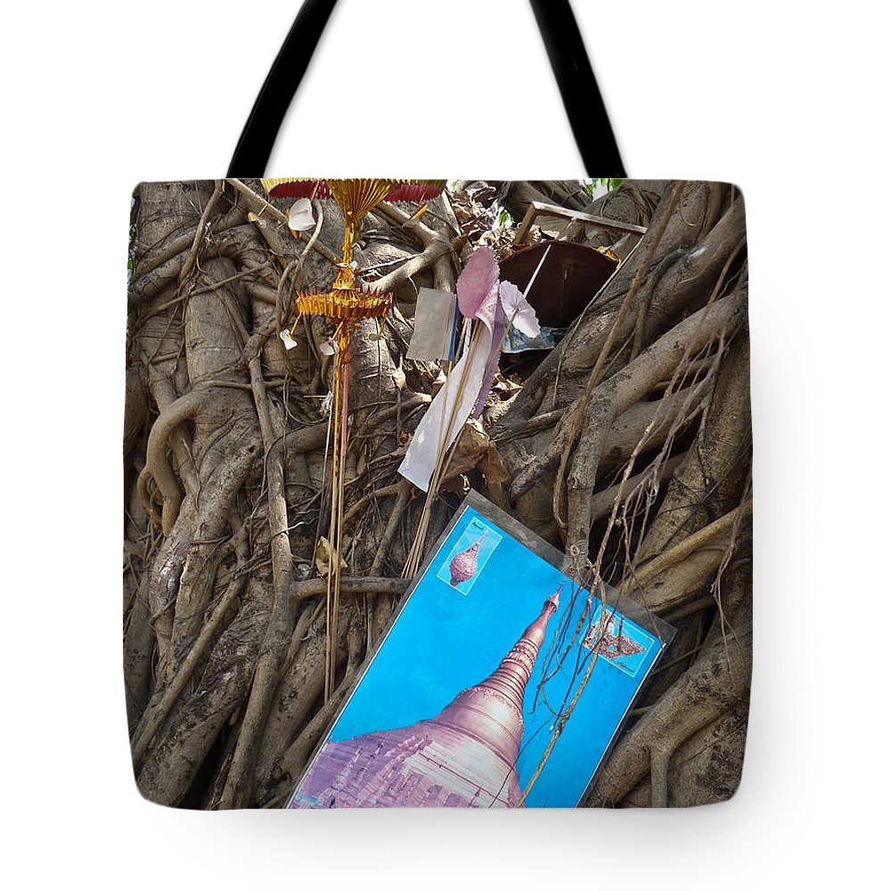 Asia Tote Bag featuring the photograph Various Religious Items Stuffed I by Jason Rosette