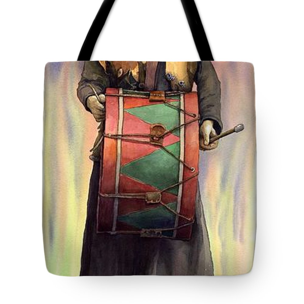 Watercolor Tote Bag featuring the painting Varius Coloribus Abul by Yuriy Shevchuk