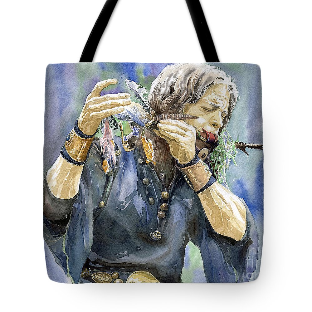 Watercolor Tote Bag featuring the painting Varius Coloribus by Yuriy Shevchuk