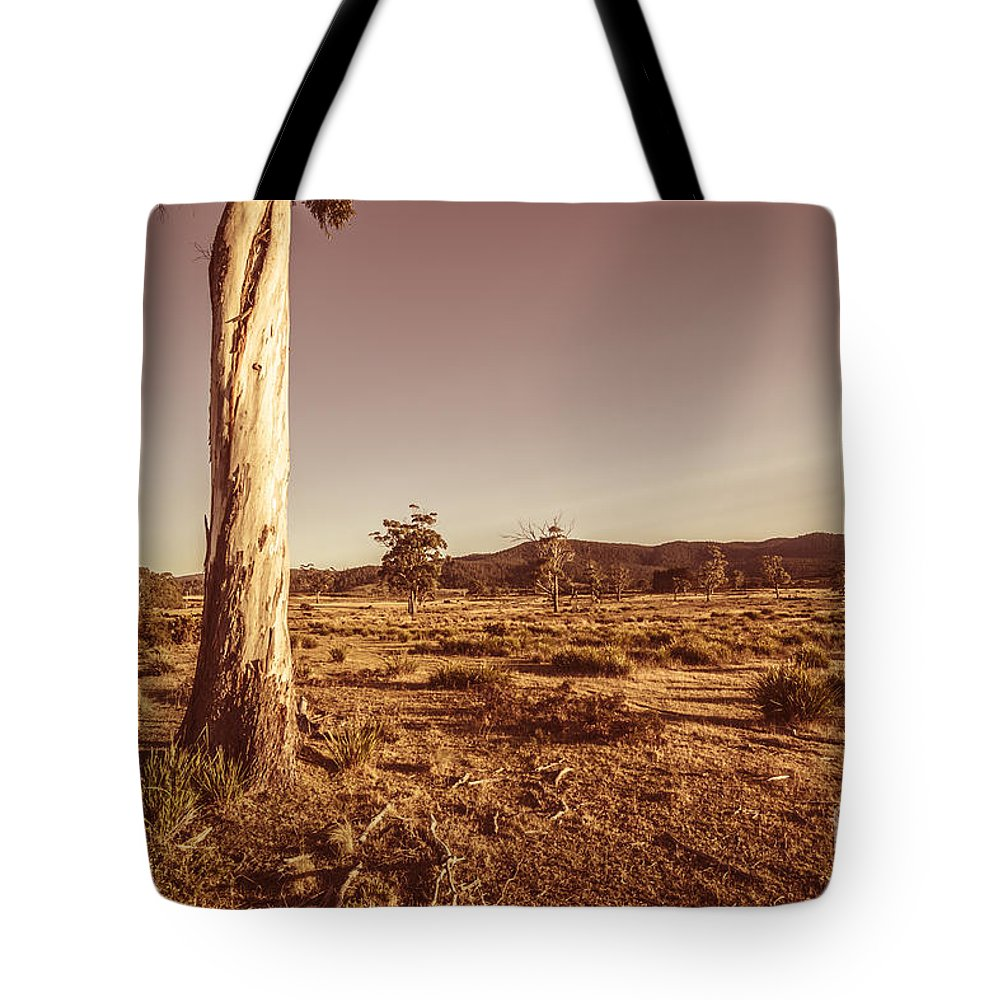 Tree Tote Bag featuring the photograph Vast Pastoral Australian Countryside by Jorgo Photography - Wall Art Gallery