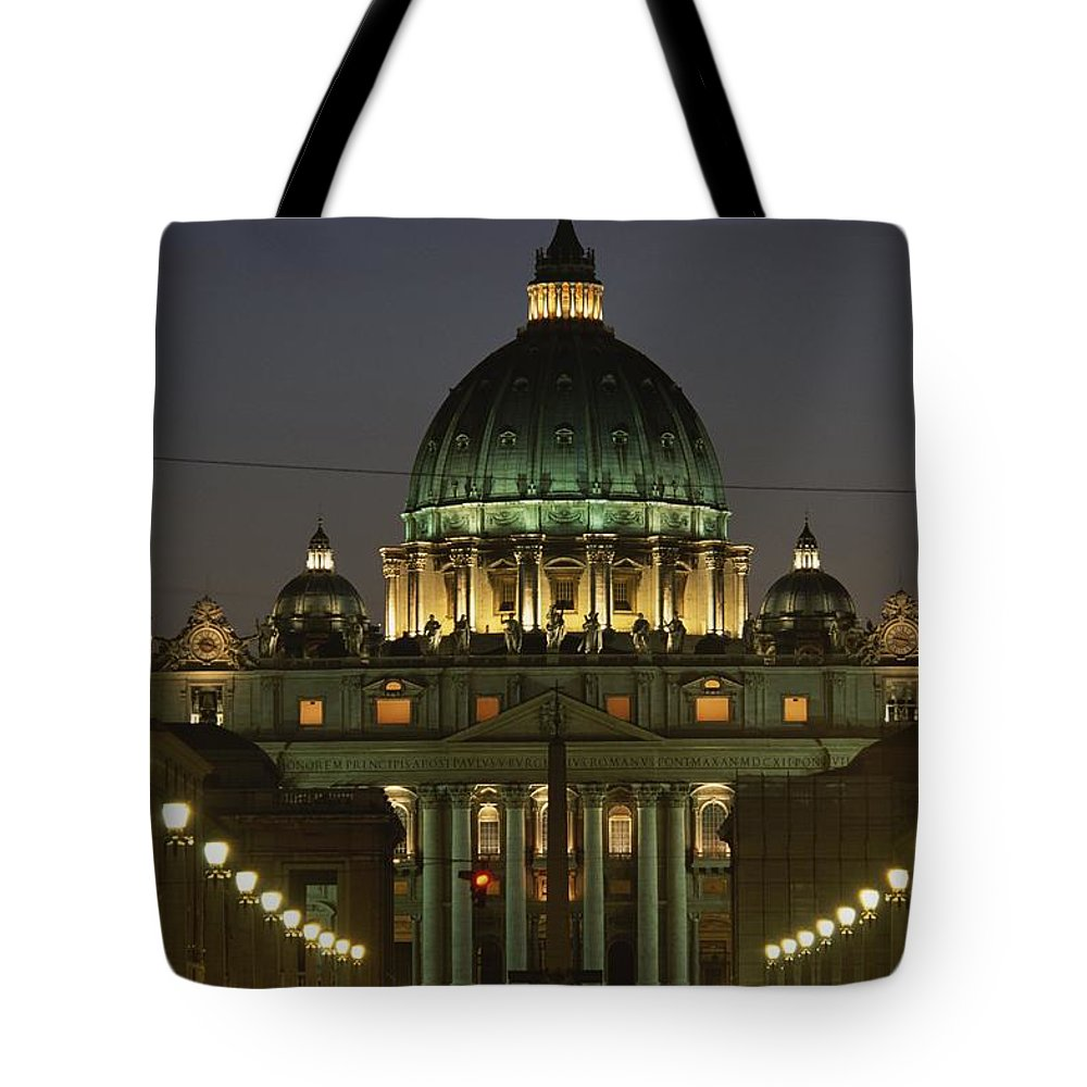 Europe Tote Bag featuring the photograph Vatican, Rome, Italy. Night View by Richard Nowitz