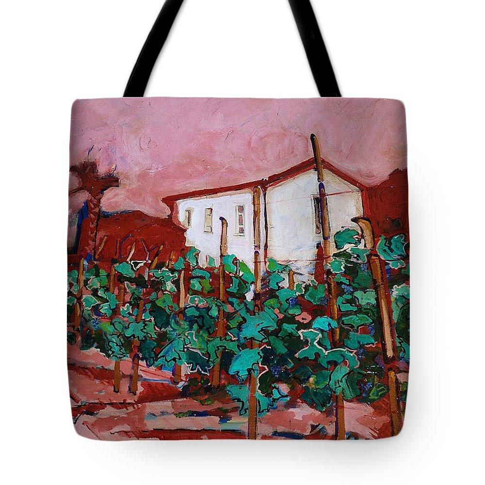 Tuscany Tote Bag featuring the painting Vecchio Casa Di Pietro by Kurt Hausmann