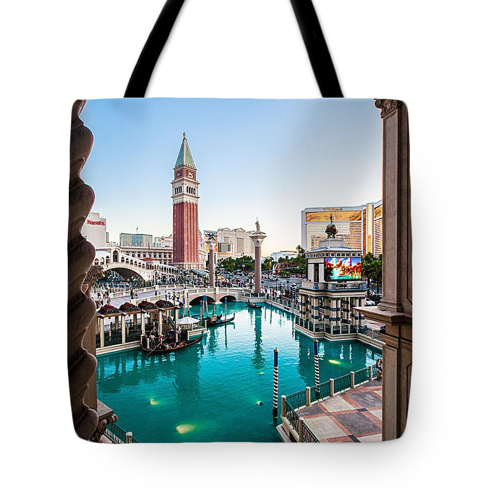 Travel Photography Tote Bag featuring the photograph Vegas #3 by Alex Kotlik