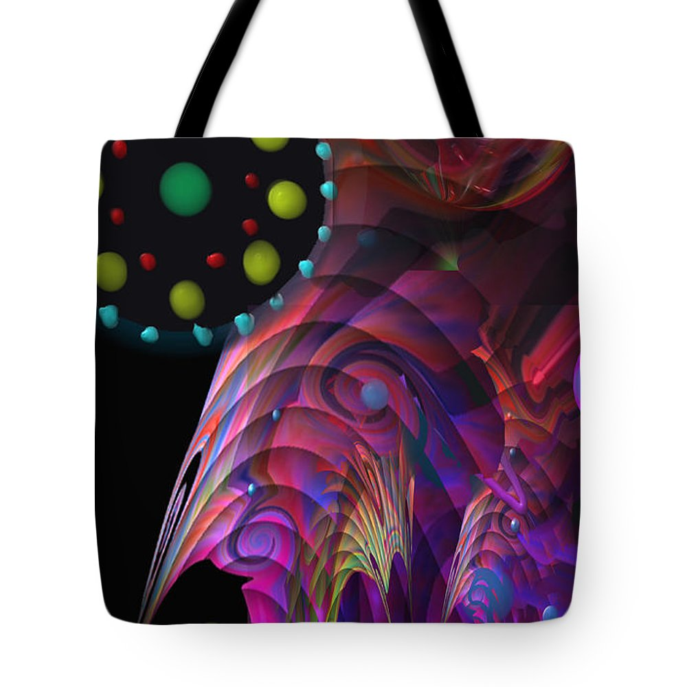 Planets Tote Bag featuring the painting Vegas Dreams by Kevin Caudill