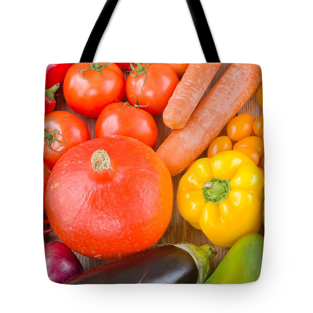 Vegetables Tote Bag featuring the photograph Vegetables by Anastasy Yarmolovich
