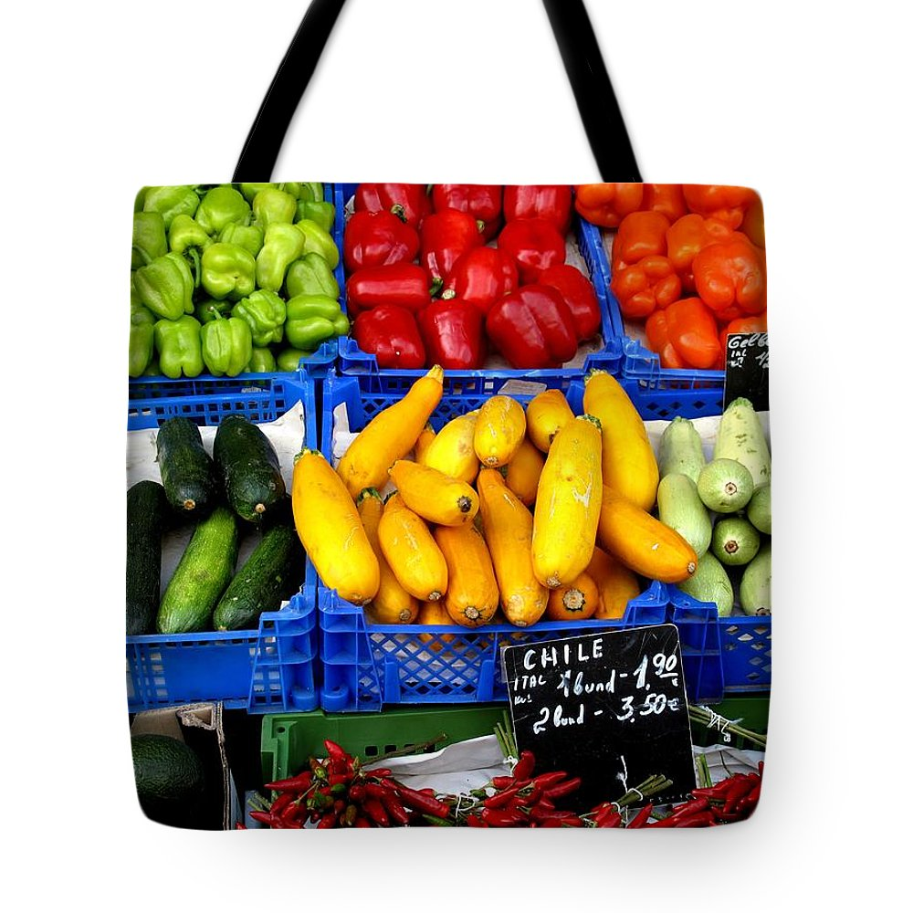 Vegetables Tote Bag featuring the photograph Vegetables by Ian MacDonald