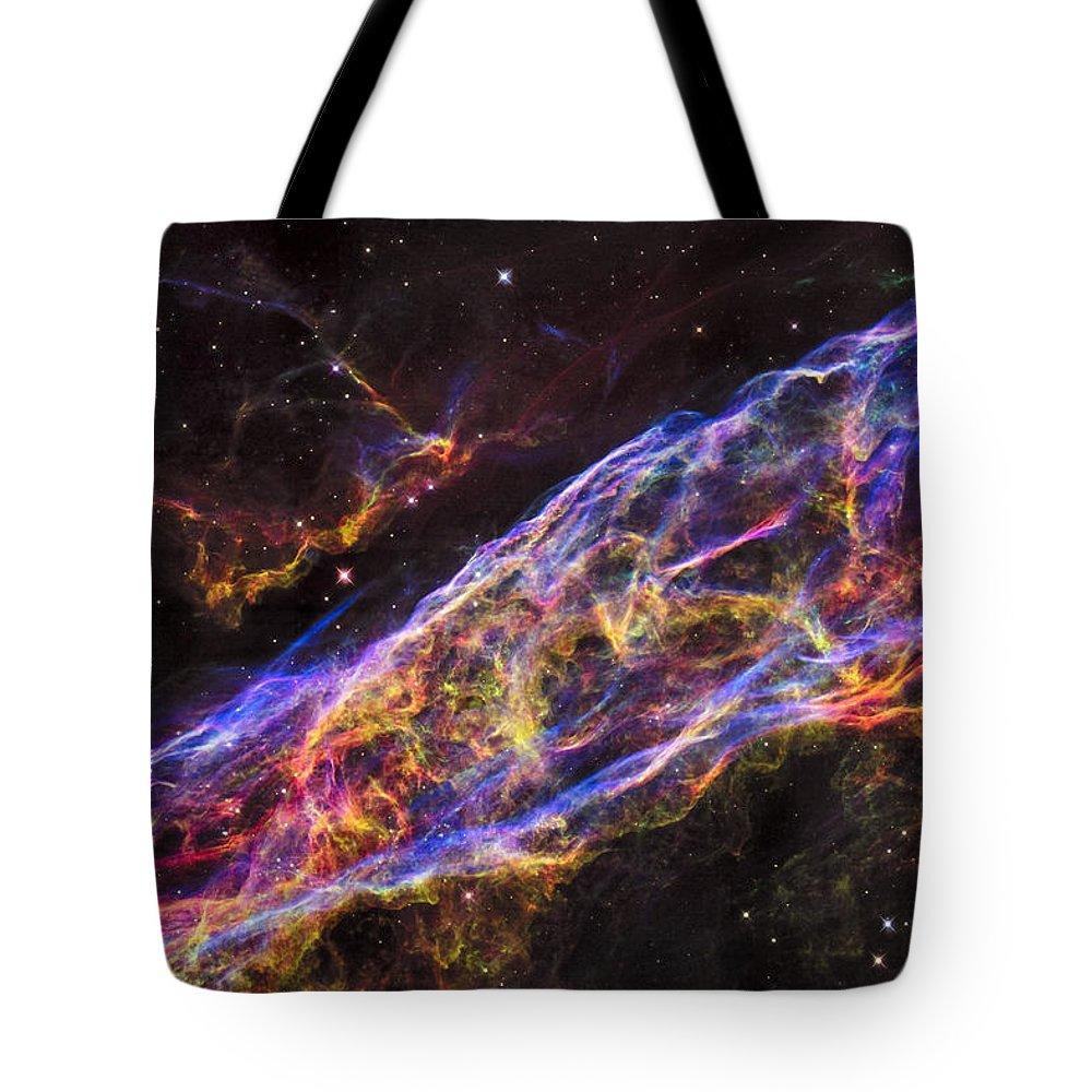Veil Tote Bag featuring the photograph Veil Nebula by Ricky Barnard