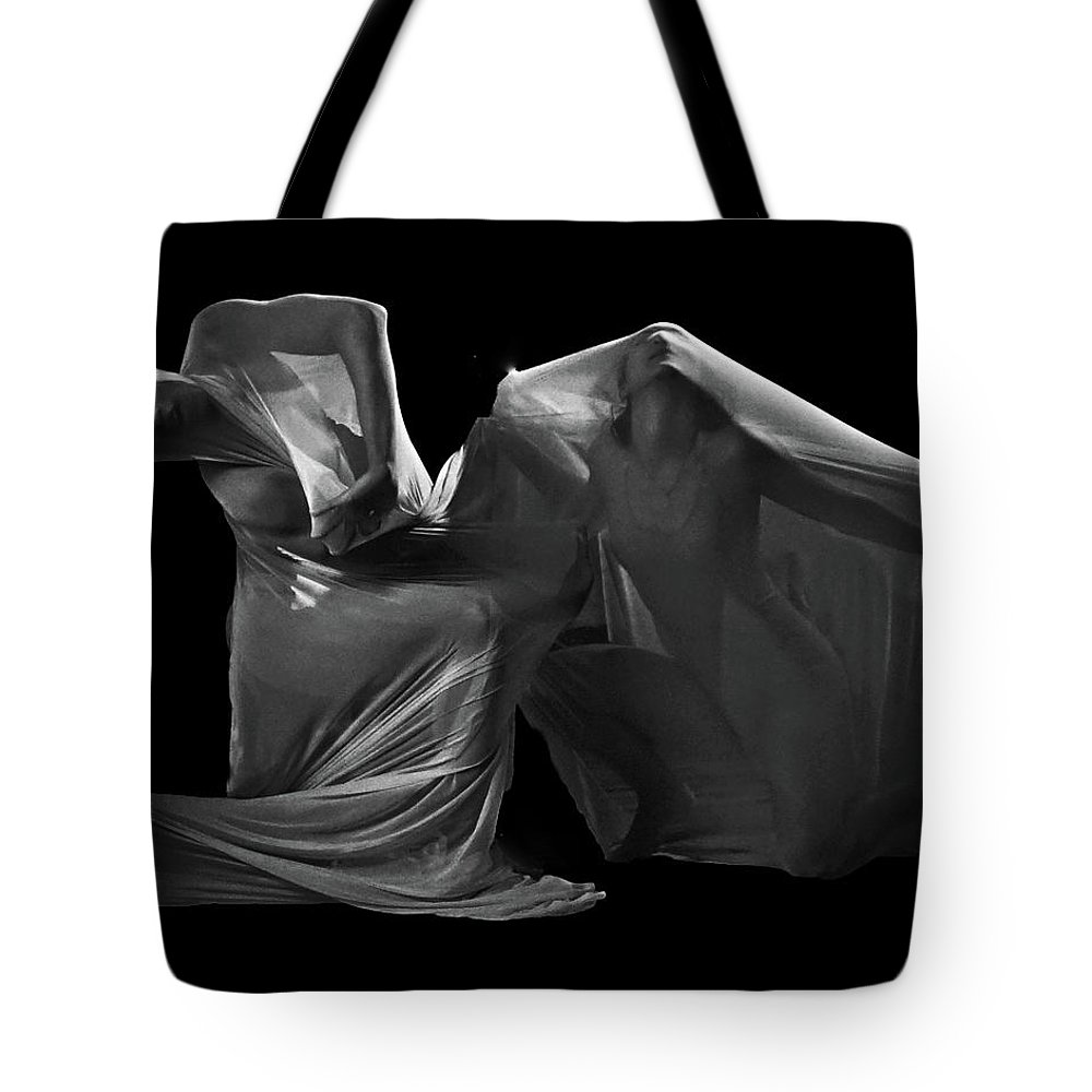 Abstract Dancing From My Book Leap Of Faith. Tote Bag featuring the photograph Veiled by Marvin Seiger