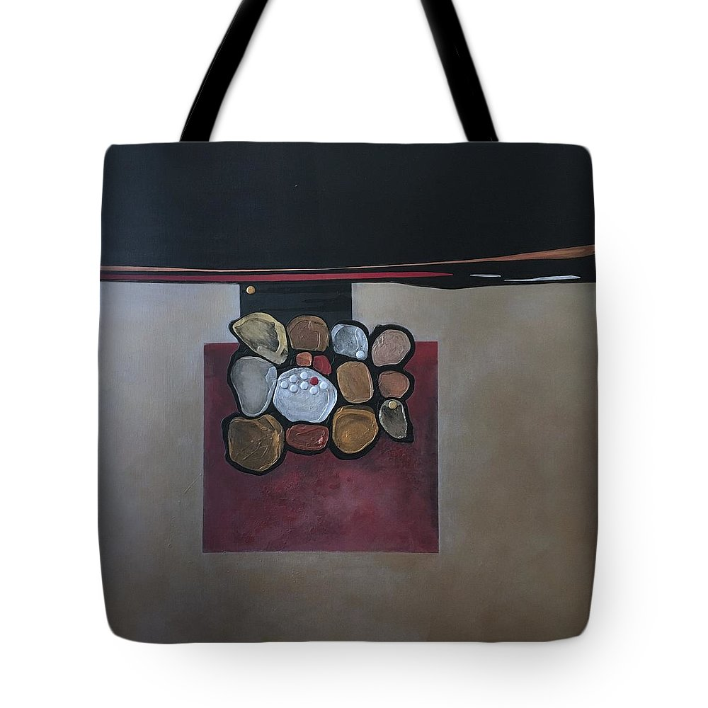 Metallic Tote Bag featuring the painting Velocity by Marlene Burns