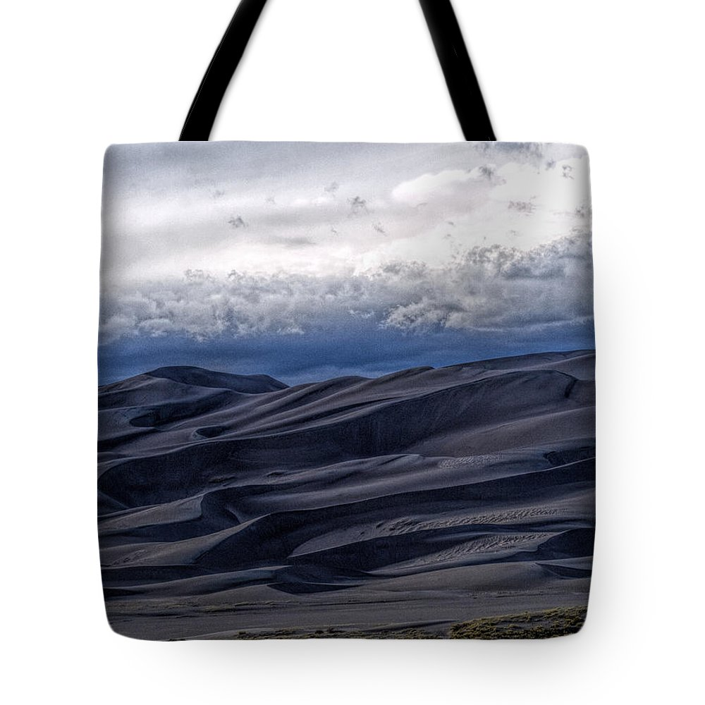 Great Sand Dunes National Park Tote Bag featuring the photograph Velvet at Night by Alana Thrower