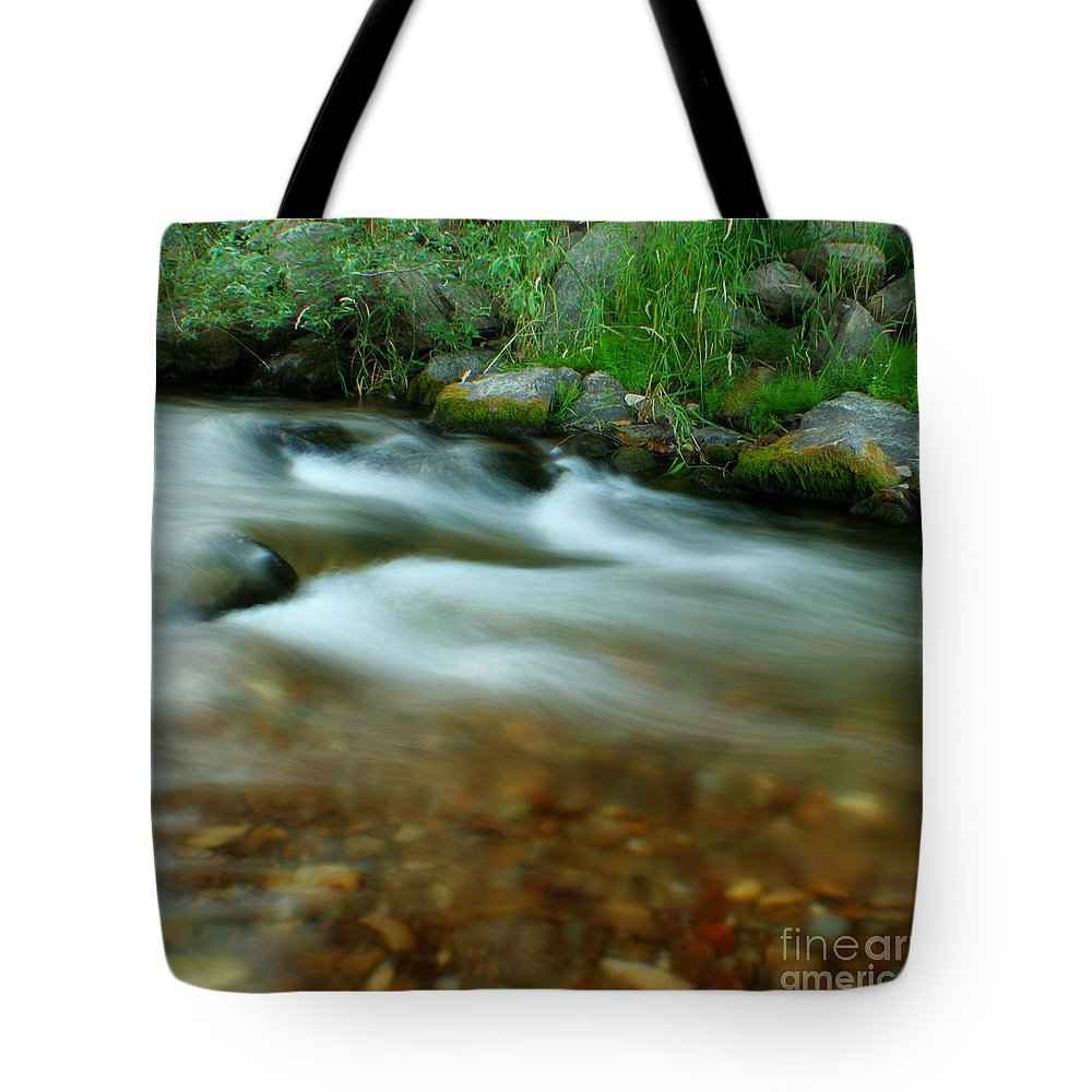 River Tote Bag featuring the photograph Velvet River by Idaho Scenic Images Linda Lantzy