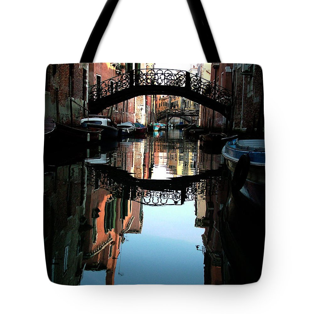 Venice Tote Bag featuring the photograph Venetian Delight by Donna Corless