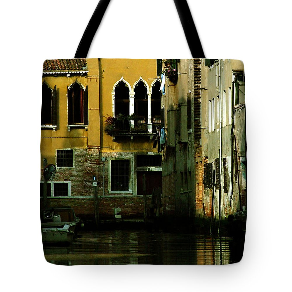 Venice Tote Bag featuring the photograph Venetian Gold by Donna Corless