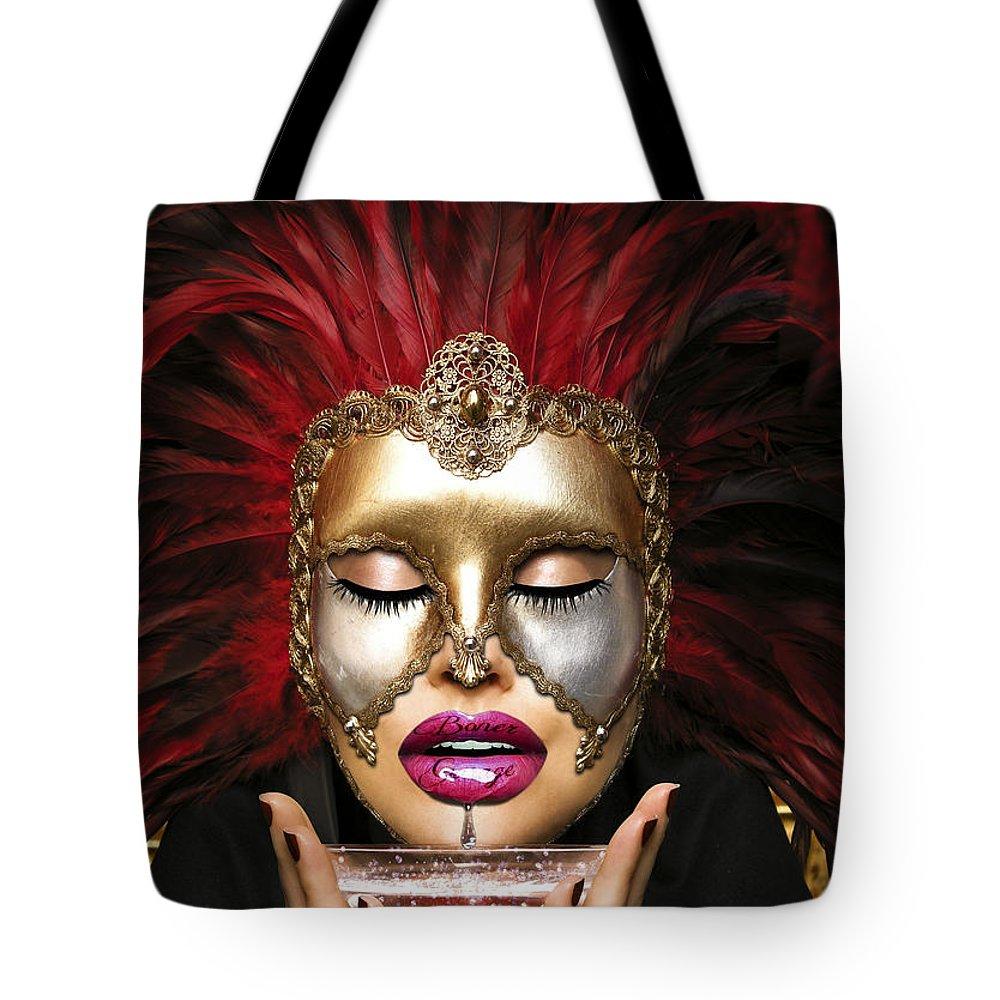 Nun Tote Bag featuring the digital art Venetian by Jan Raphael