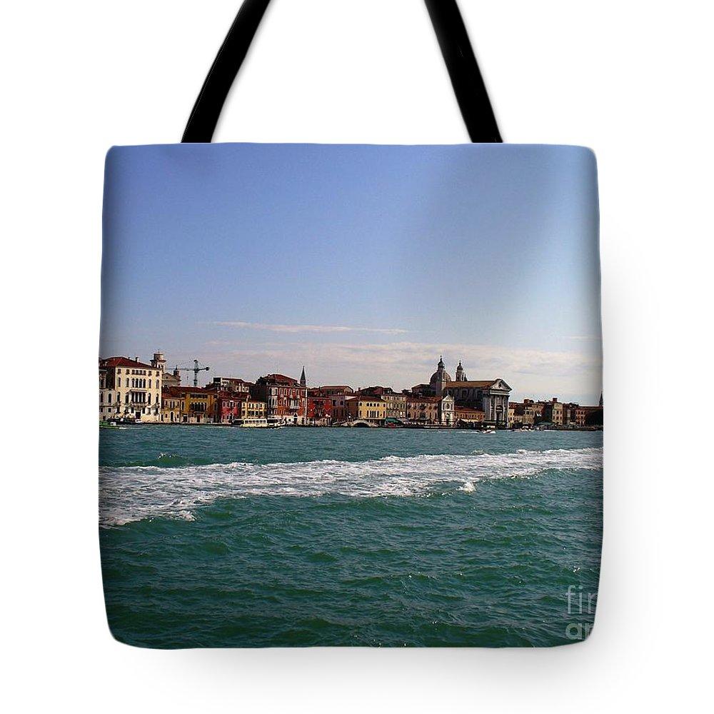 Landscape Tote Bag featuring the photograph Venezia by Fernanda Cruz